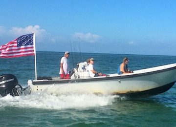 Flag Flying, Happy 4th Of July, Sanibel Fishing & Captiva Fishing, Sanibel Island, Tuesday, July 4, 2017.